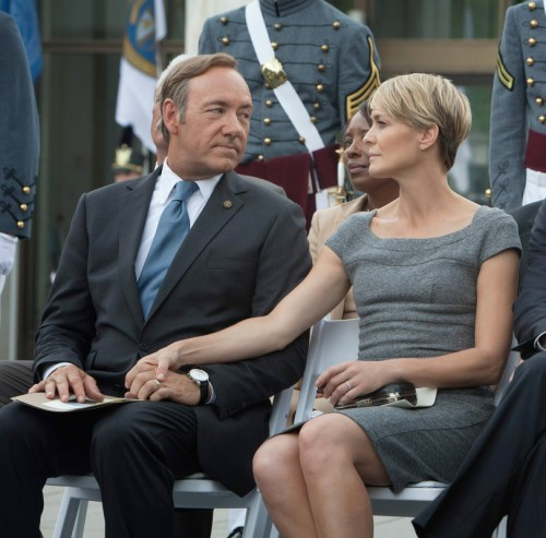 claire underwood grey dress