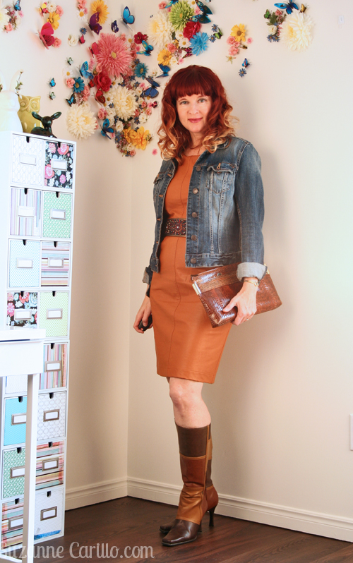 how to wear 1970s style over 40 patchwork boots