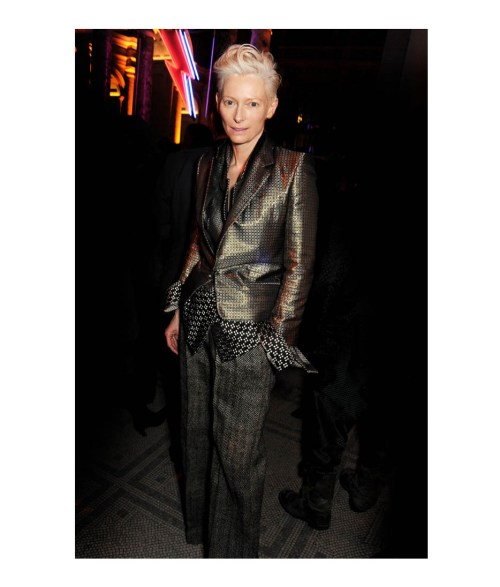 Tilda Swinton wearing menswear