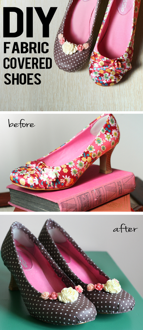 diy fabric covered shoes altered shoes