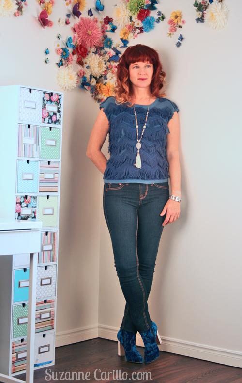 how to wear fringe and velvet over 40