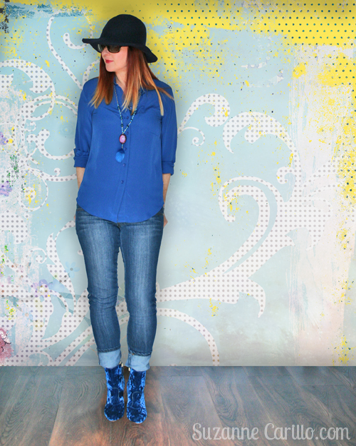 relaxed boho style for women over 40