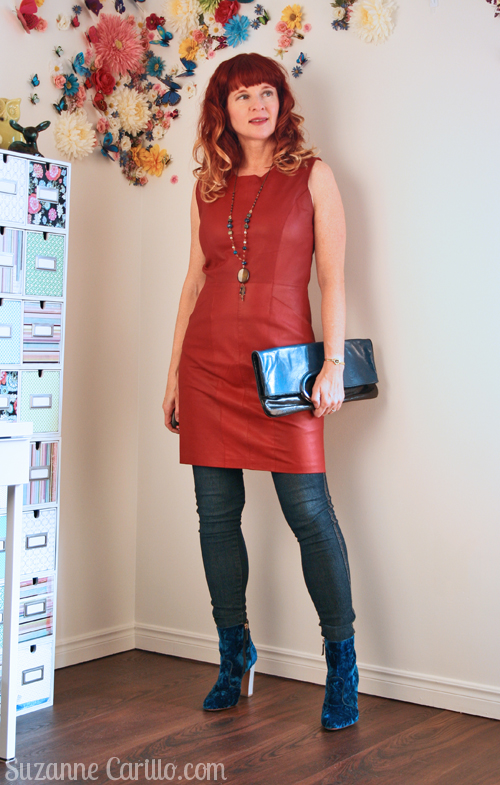 how to wear leather with velvet over 40 over 40 style