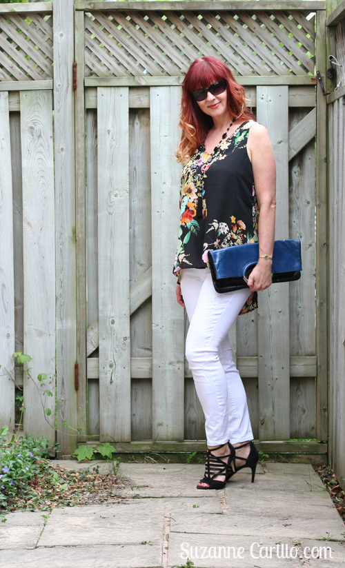 how to wear white jeans with style over 40