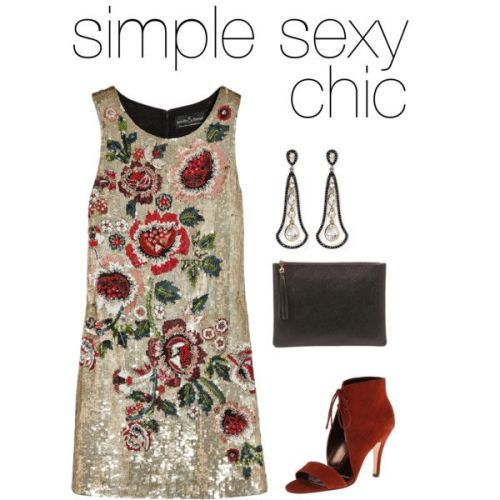 summer party outfit sequinned dress