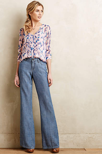 anthropologie linen pants