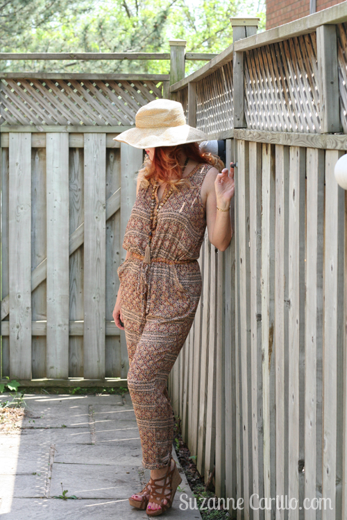 brown anthropologie jumpsuit summer style women over 40