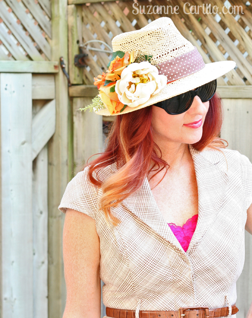 handmade floral straw hat suzanne carillo