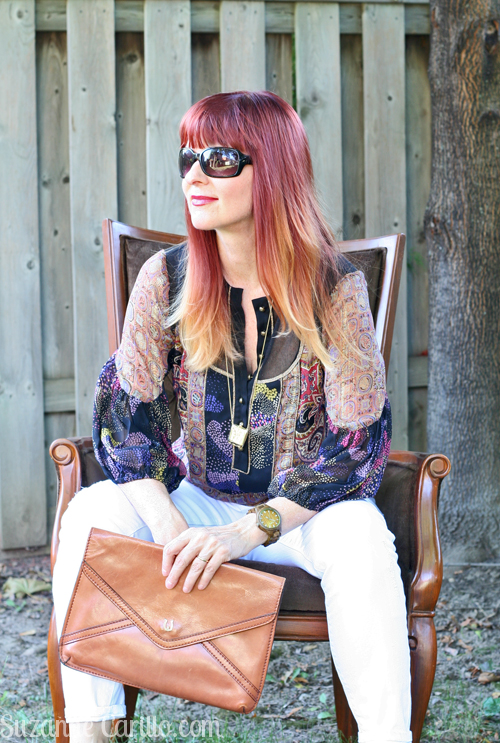 Thrifted silk blouse