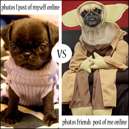 photos of me posted by friends online vs photos I post of myself online by suzanne carillo