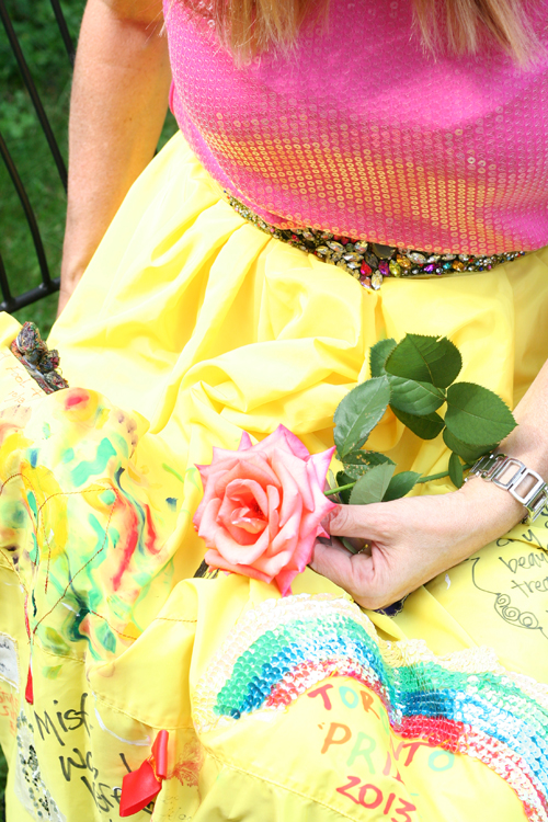 yellow travelling skirt and rose suzanne carillo