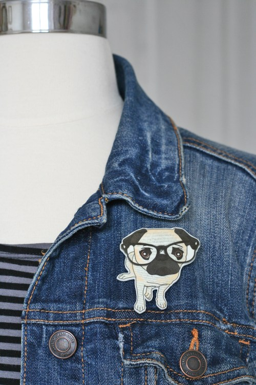 cute pug brooch suzanne carillo