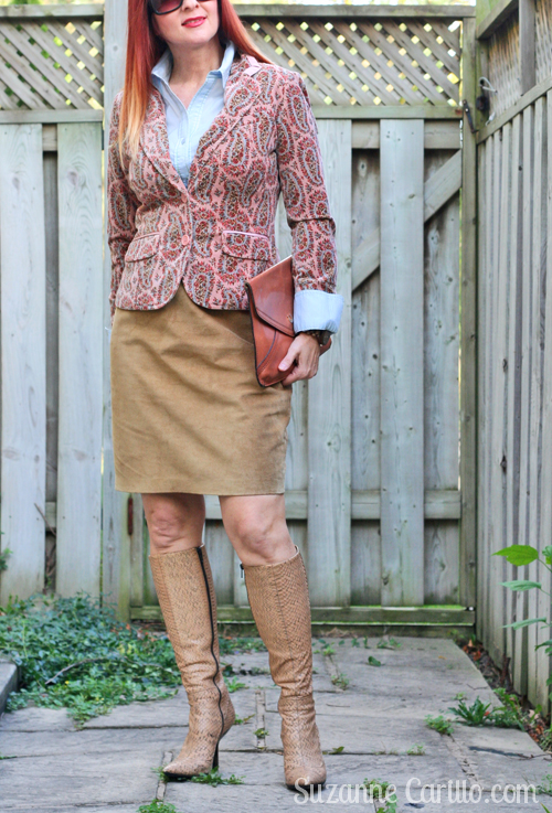 how to style a patterned blazer suzanne carillo