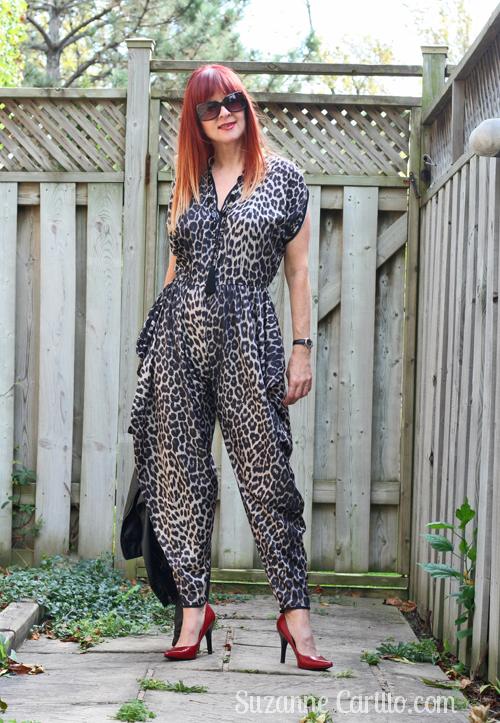 wearing leopard head to toe
