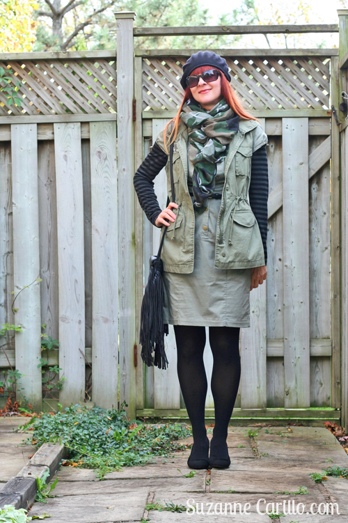 how to style army green over 40 style suzanne carillo