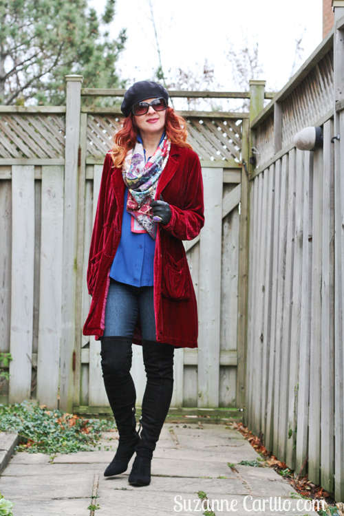 how to wear thigh high boots over 40 suzanne carillo
