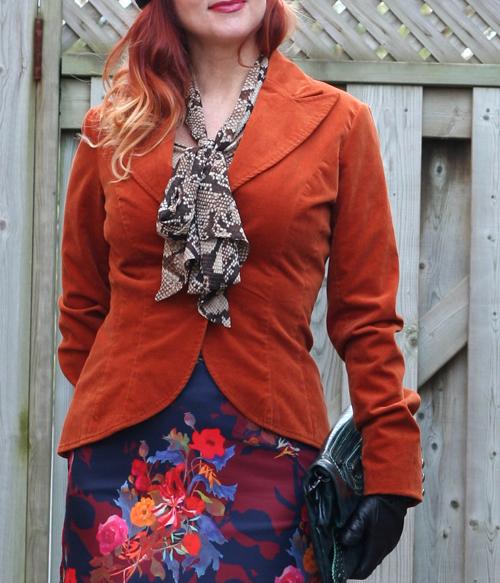 orange velvet jacket suzanne carillo