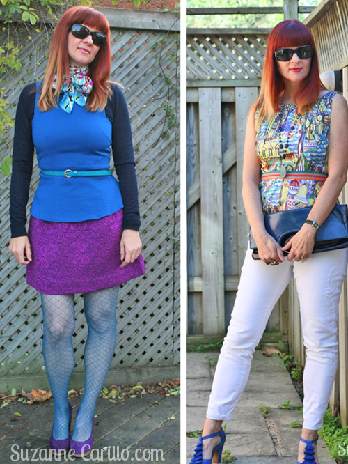 how to wear peplum and patterned tights over 40 breaking the fashion rules suzanne carillo