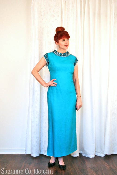 how to wear a vintage gown over 40 suzanne carillo