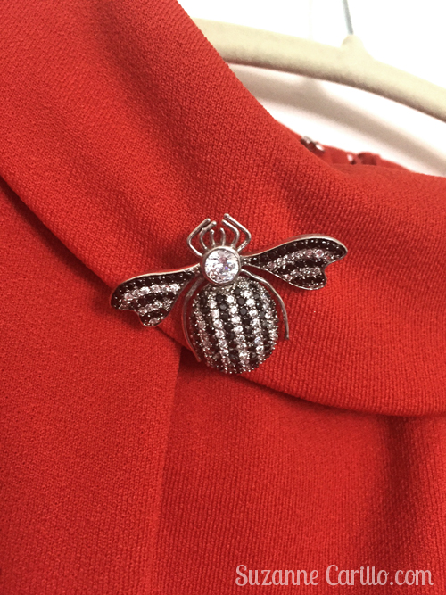 1960's style vintage insect brooch