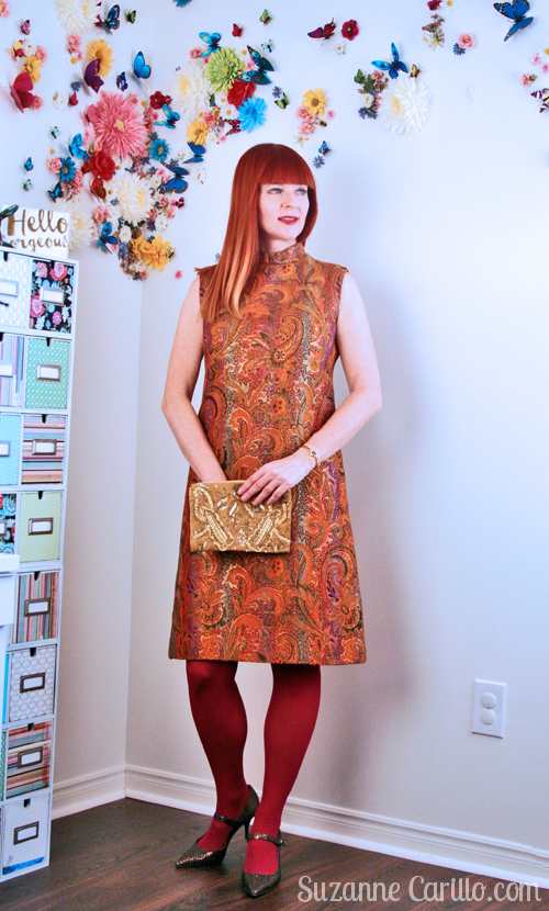 how to wear an a-line vintage dress over 40