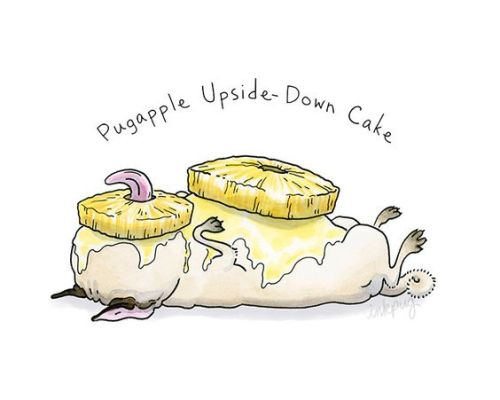 pug pineapple upside down cake