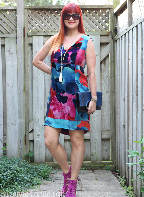 anthropologie shift dress in silk and velvet what to wear over 40 style suzanne carillo