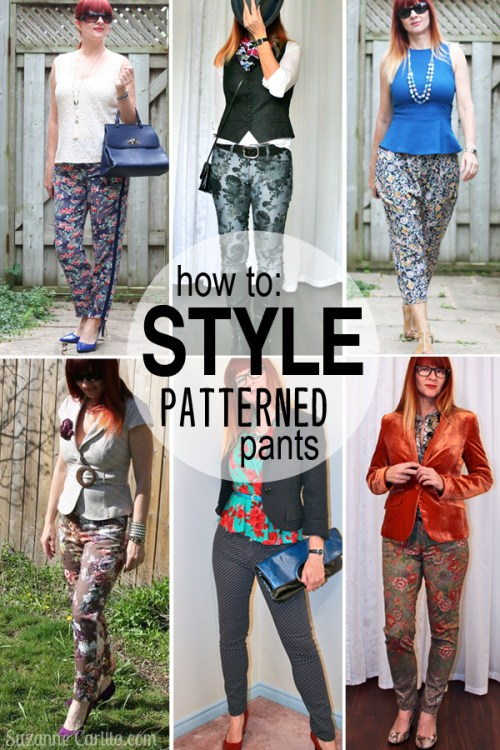 how to style patterned pants over 40