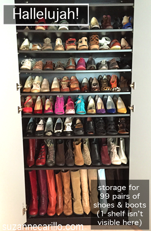The Closets Are Very Deep And Allow Me To Easily Place One Shoe Behind The  Other So I Am Able To View My Entire Shoe And Boot Collection At A Glance.