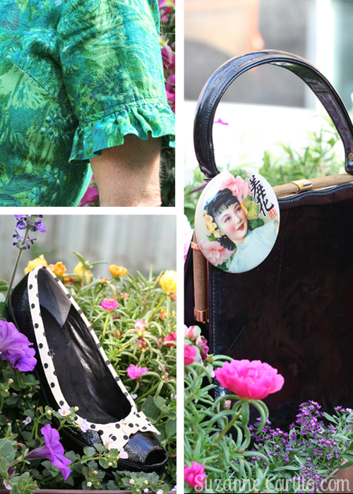 vintage handbag and dress suzanne carillo