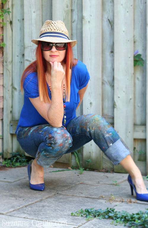 how to make your own paint splatter jeans suzanne carillo