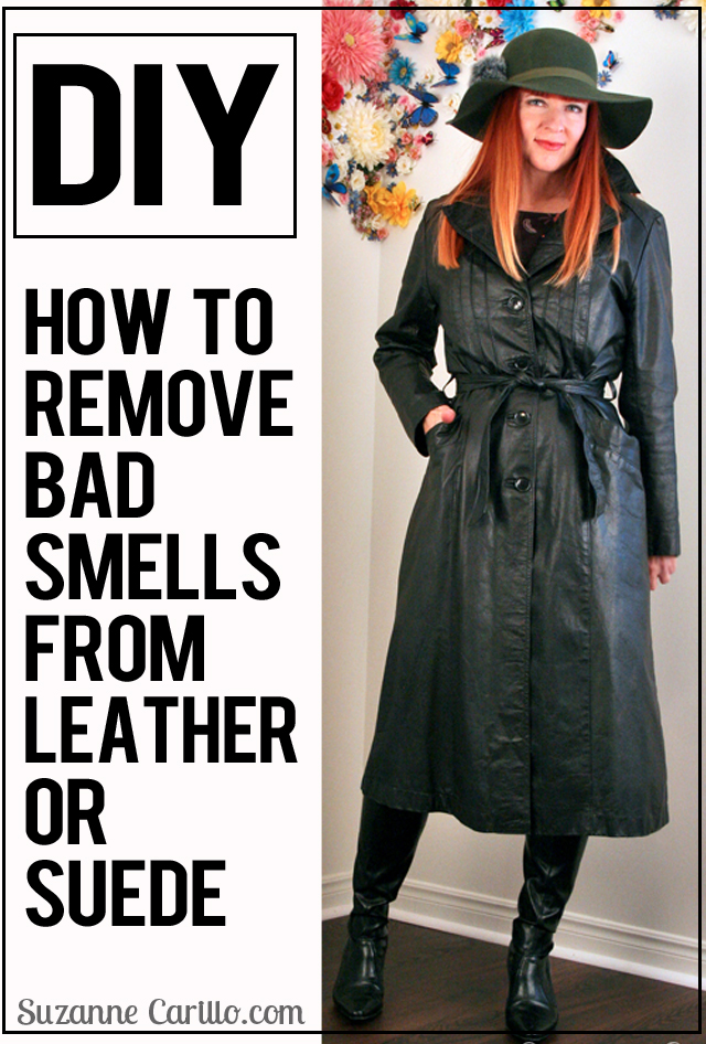 DIY how to remove bad smells from leather or suede guaranteed