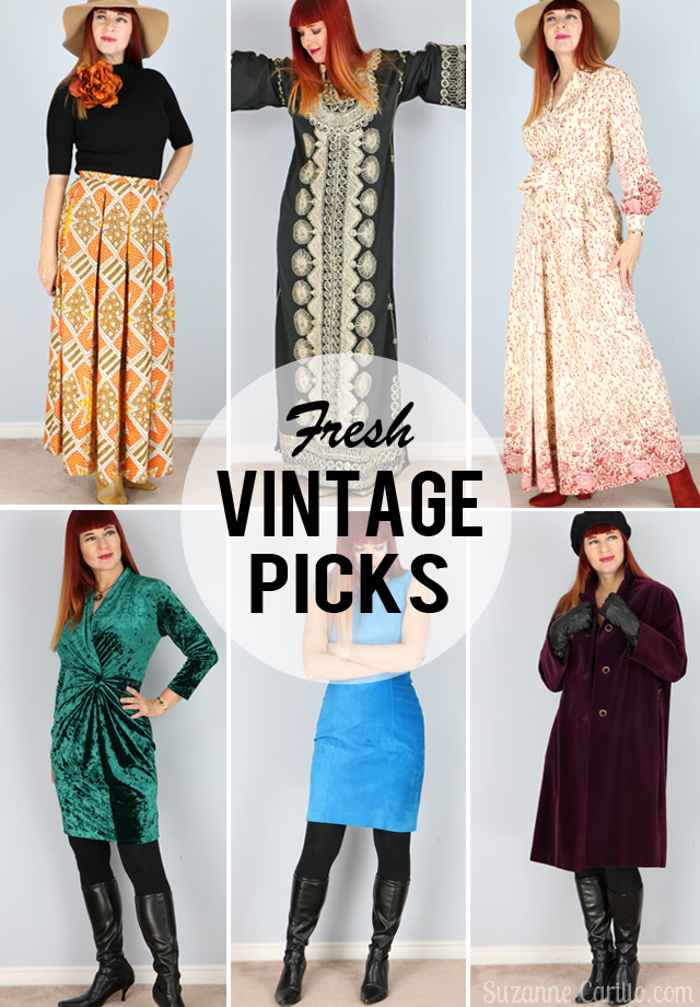 fresh vintage listings for sale in my Etsy store Vintage by Suzanne Vintage style for women over 40