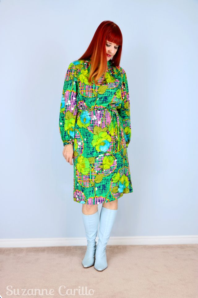 1960s-vintage-dress-for-sale-green-and-blue-handmade-vintagebysuzanne-on-etsy