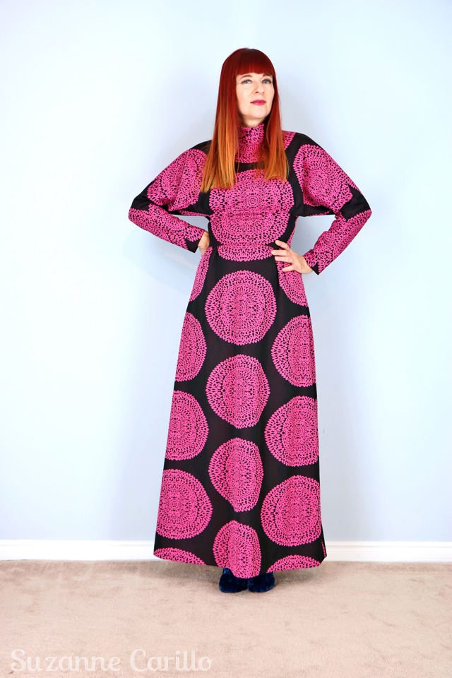 Thrift Shopper Fighting Techniques 1970s-vintage-handmade-patterned-bold-dress-for-sale-vintagebysuzanne