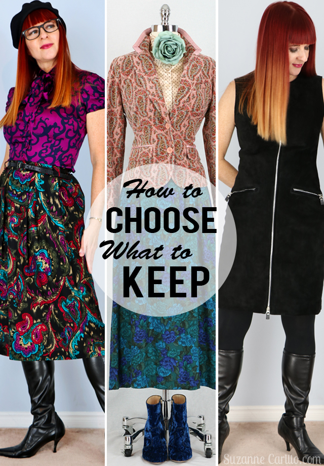 How to choose what to keep in your wardrobe or buy for your wardrobe style for women over 40 Suzanne Carillo