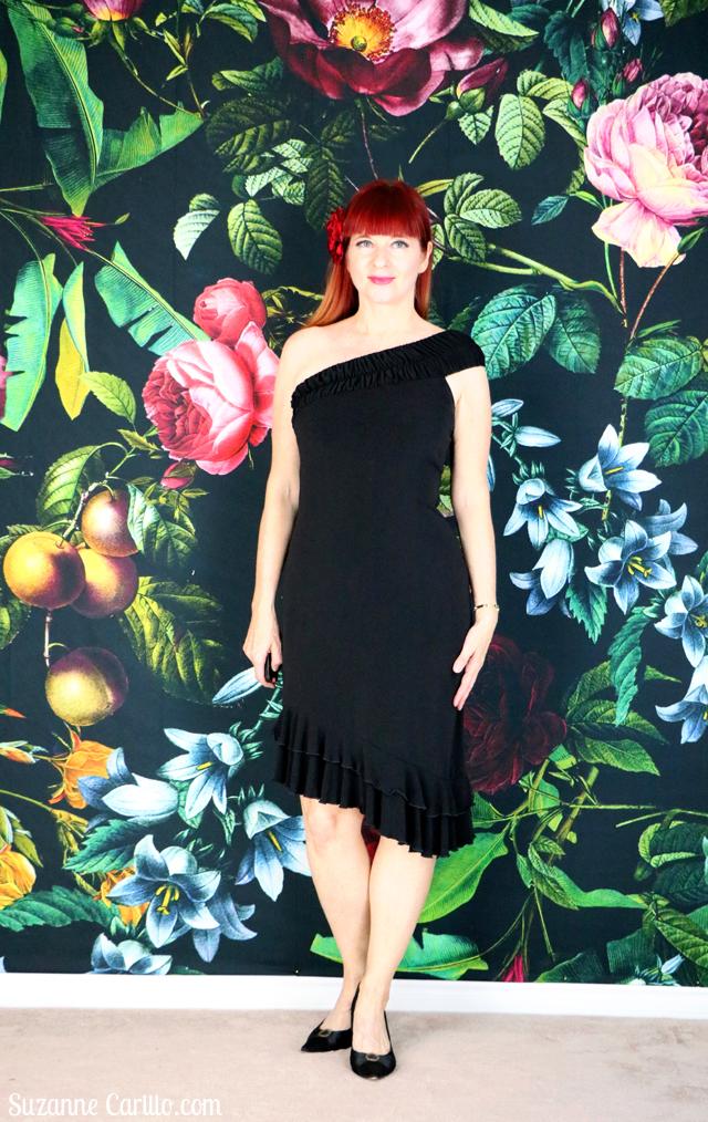 black tango dance dress suzanne carillo style for women over 40