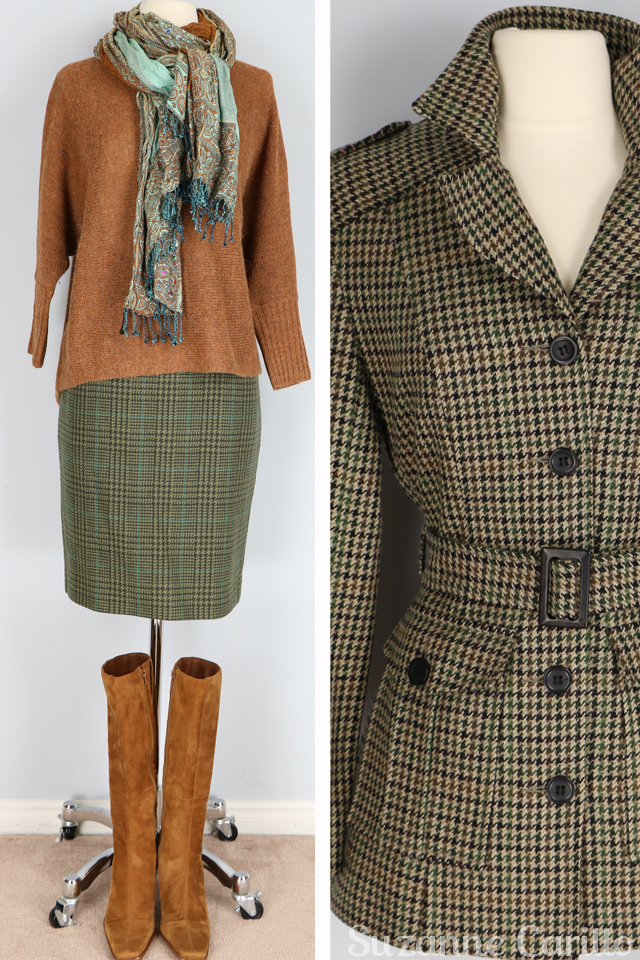 Vintage tweed safari hunting jacket and vintage tweed skirt for sale vintagebysuzanne on etsy