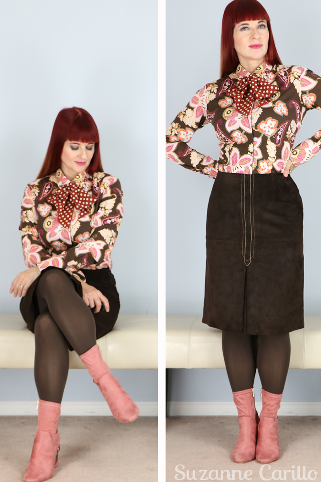 Is my mind tricking me or is the camera lying? How to wear two bold patterns together style for the uncommon woman suzanne carillo