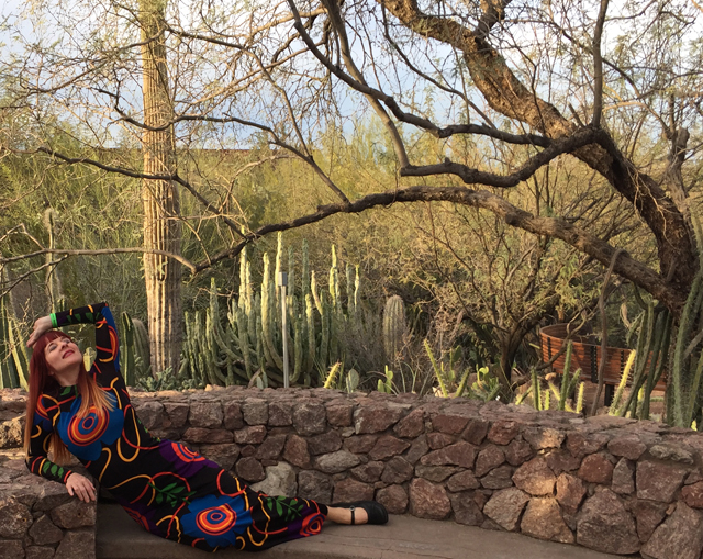 suzanne carillo 1970s vintage maxi dress cacti garden phoenix arizona