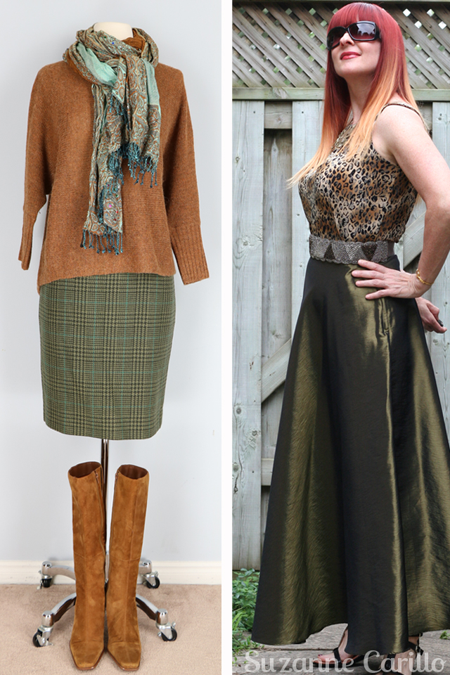 different ways to wear the colour green suzanne carillo
