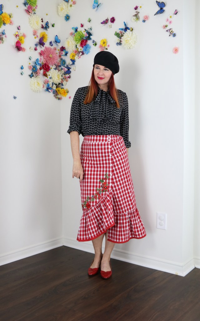 Embellished gingham for summer