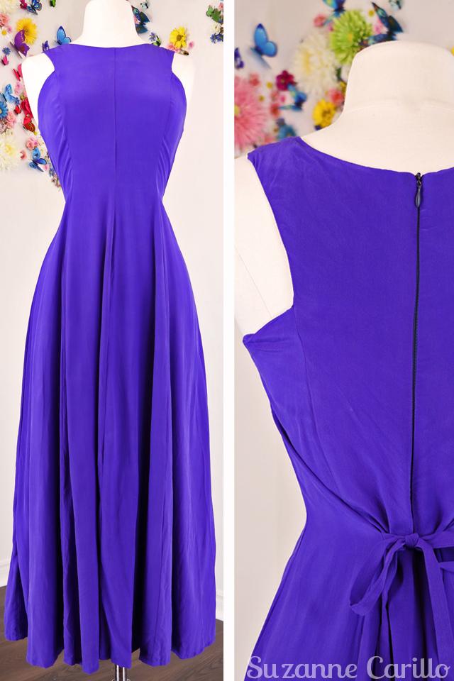 purple silk maxi dress for sale