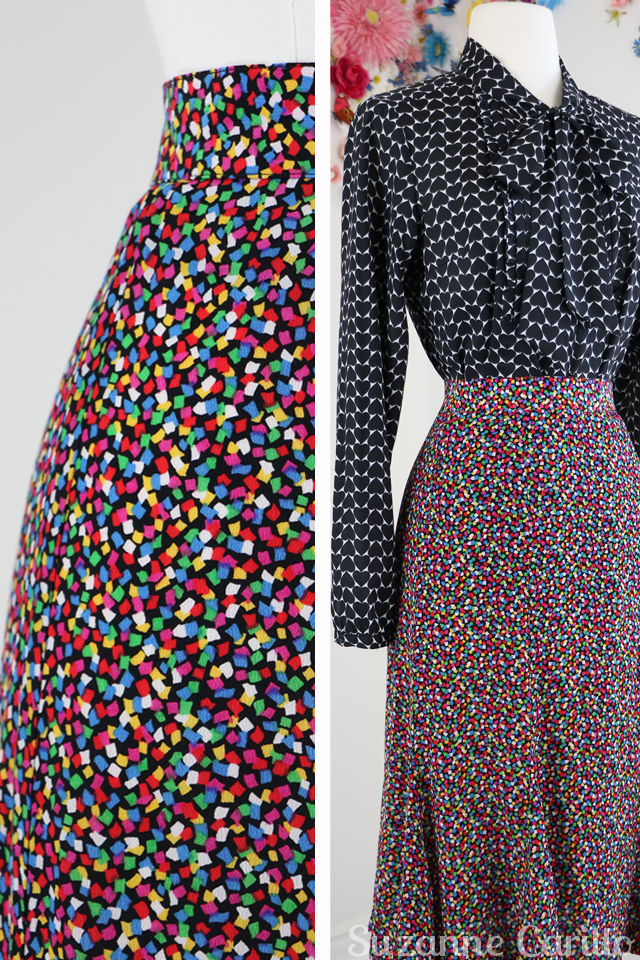 vintage liz claiborne colourful skirt for sale