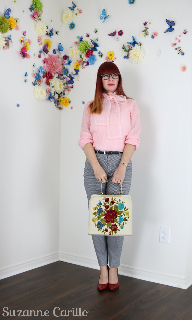 how to style a vintage handbag contemporary