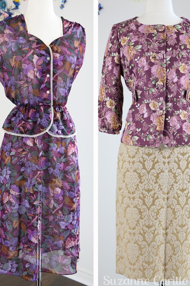 vintage floral dress for sale vintage floral jacket for sale damask skirt for sale buy now