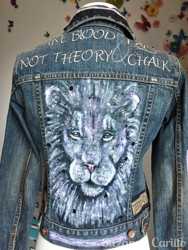 turn a jean jacket into wearable art rylee back