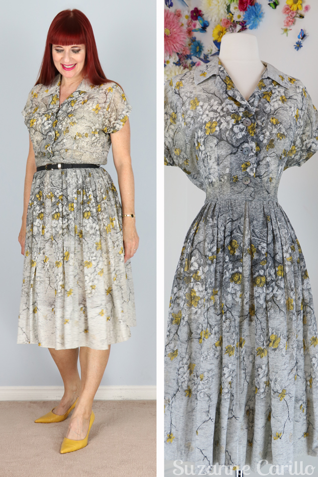 1950s fit and flare dress suzanne carillo