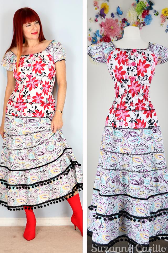 New in my Etsy Shop. Mexican fiesta dress for sale vintagebysuzanne