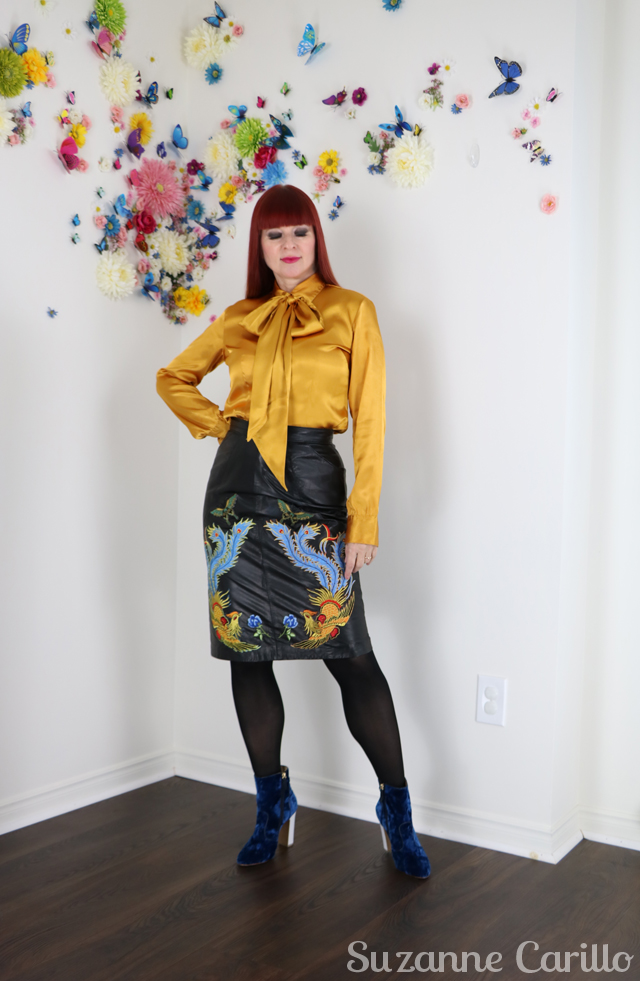how to wear embroidered leather over 40 suzanne carillo